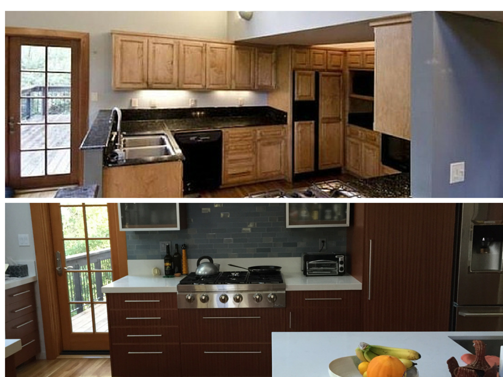 Kitchen remodel in Berkeley. Before and after photo. - Swan Building on ugly home before after, ugly kitchen cabinet makeover, ugly kitchen remodels, ugly travertine tile,