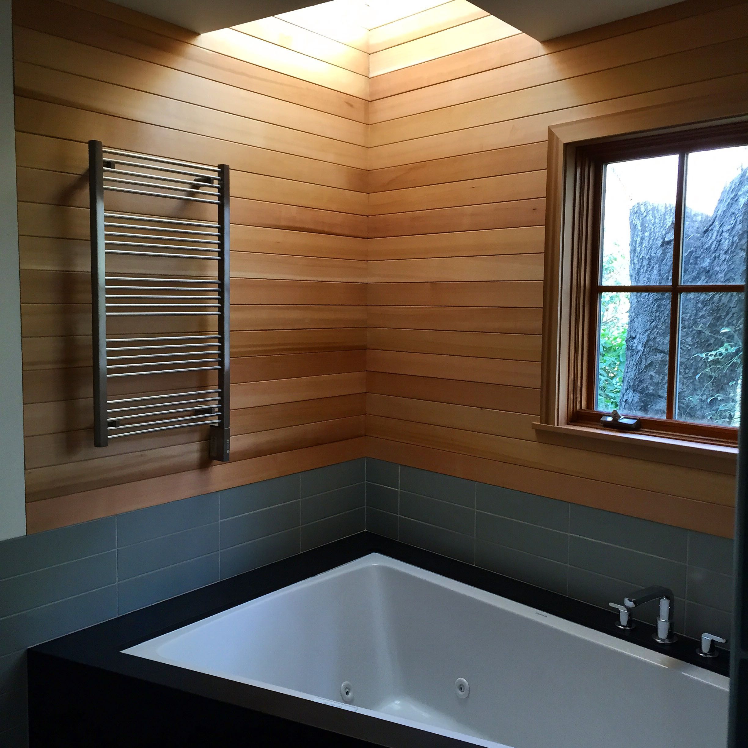 Wood Adds Warmth To This Bathroom Remodel Swan Building - Is it hard to remodel a bathroom